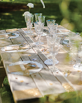 Décoration de table Vintage Champetre