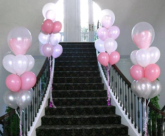 Nos ballons banderolles et d corations de salle mariage - Decoration ballon mariage ...