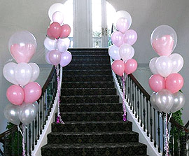 Décoration ballons escalier