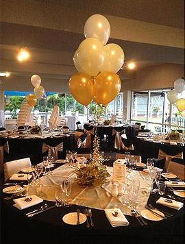 D�coration ballons sur table