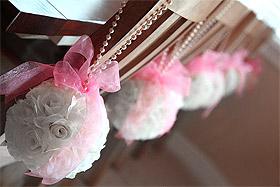 Boule Fleurs Artificielles Déco de Chaise Mariage