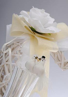 Couple de Colombes Fun Chapeau Mariage Blanc