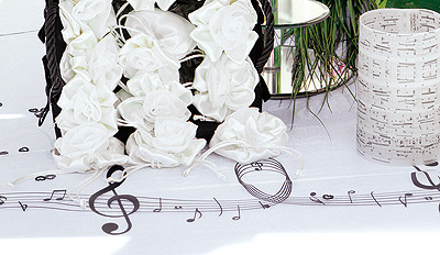 Decoration de table musique