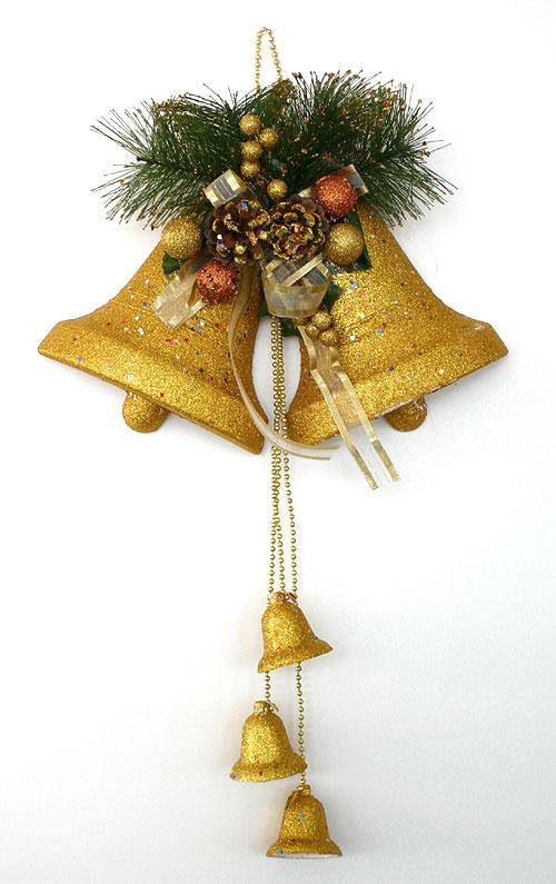 La Decoration De Noel De Porte Ou Murale Double Cloches Noel