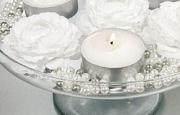 Perles Décoration Mariage pas cher Blanc Gris