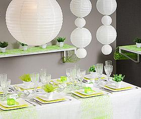 Décoration de salle Boule Lampion blanc