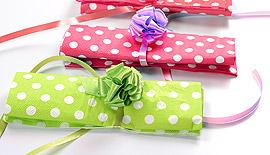 Serviettes Papier à Pois Candy Bar Fuchsia Vert Anis