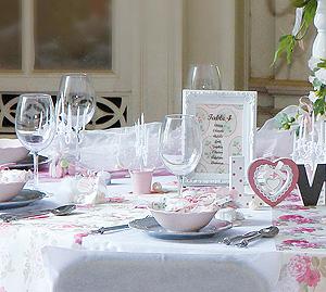 Marque Table Mariage Cadre Baroque Blanc Blanc