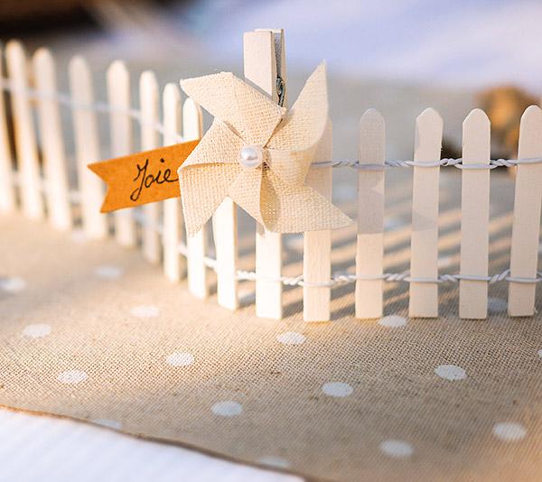 Chemin de table lin pois blancs d coration vintage - Petit chemin de table ...