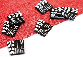 Mini Claps Cinéma en Bois Confettis x25 Noir