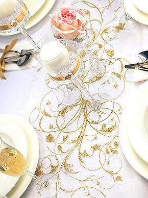 Décoration de table paillettes dorée