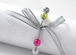 Perles Décoration Mariage pas cher Blanc Fuchsia Vert Anis