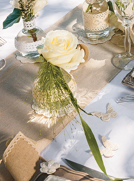Le petit vase boule fiole vintage r tro noel for Perle d eau decoration florale