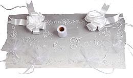 Kit Déco de Voiture Mariage Blanc