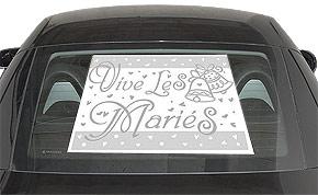 Plaques Vive les Mariés Voiture