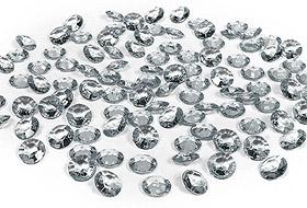 100 Petits Diamants Transparents Décoration Table Mariage Gris