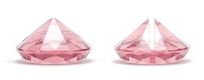 Marque-place diamant rose
