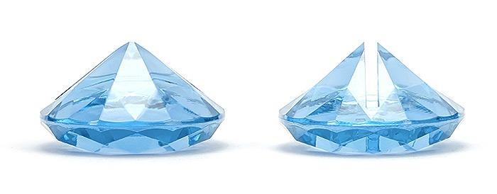 Marque Place Diamant Transparents x10 Turquoise