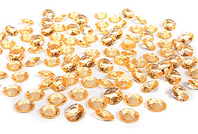 100 Petits Diamants Transparents Décoration Table Mariage Ivoire