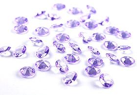 100 Petits Diamants Transparents Décoration Table Mariage Parme