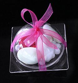 Mini Assiette Cloche Pvc Transparent Contenant Dragées