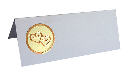 Sticker Or Rond Coeurs Mariage Doré