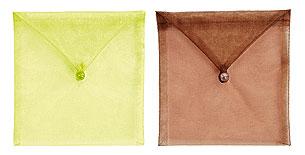 Enveloppes Organdi Transparent avec Perle