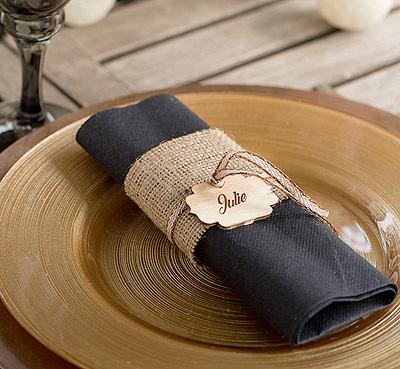 Etiquette en bois vintage marque place