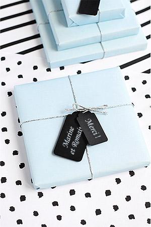 Etiquette cadeau invités