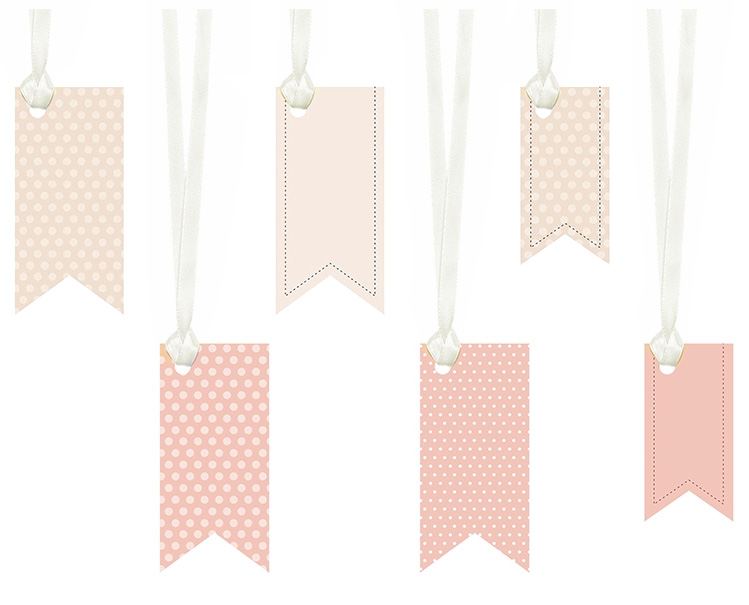 Etiquettes Candy Bar Fanion Rose Pois