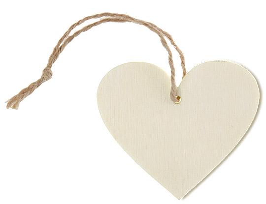 etiquettes marque place coeur en bois cordelette x4 noel. Black Bedroom Furniture Sets. Home Design Ideas