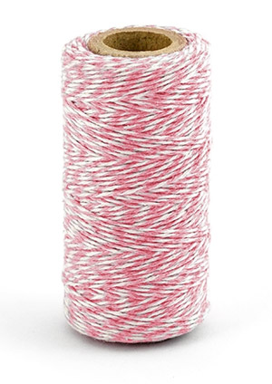 Ficelle Bicolore Baker Twine Blanc Rose