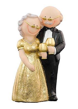 Figurine Couple Anniversaire Mariage Noces d' Or
