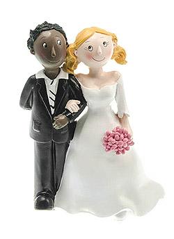 Figurine Mariage Mixte Homme Black Femme Blanche