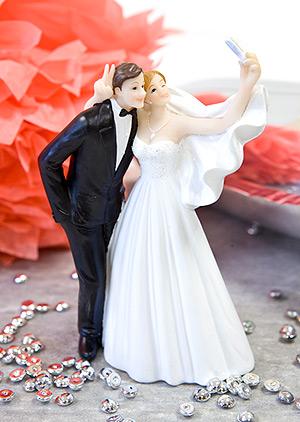 Figurine mariage selfie pas cher