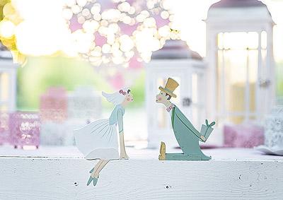 Figurine Mariage Pastel Shabby