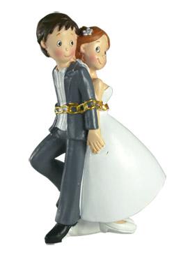 Figurine Mariés Enchainés