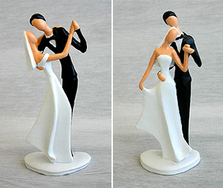 Figurines Mariage Design pas cher