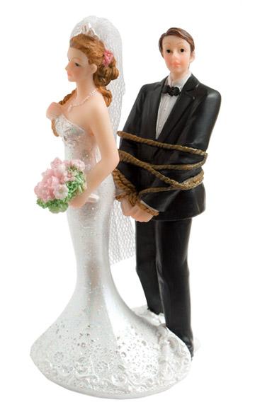 Figurine Mariés Ligotés Corde  Figurines Mariés
