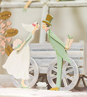 Figurines Mariage en Bois Old Style