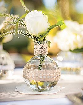 Fiole Verre Vase Vintage Transparent