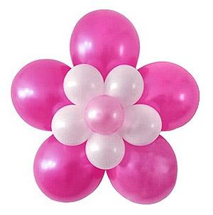 Fleur r�alis�e avec des ballons
