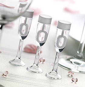 Flutes Champagne Bulle de Savon Mariage Transparent