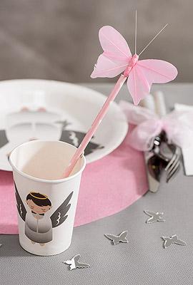 Gobelets Carton paille rose