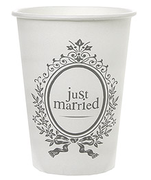 Gobelets Carton Just Married Mariage