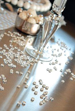 Perles de Pluie Transparentes Décoration Mariage Transparent