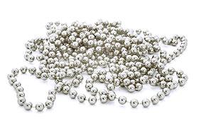 Guirlande Boules Perles Métallisées 8m50 Argent