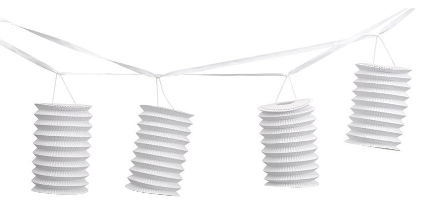 la guirlande 4 lampions de d coration noel. Black Bedroom Furniture Sets. Home Design Ideas