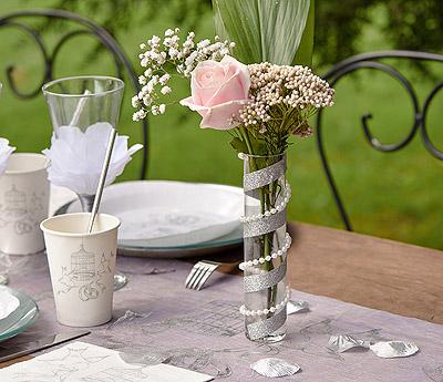 Guirlande perles décoration de table