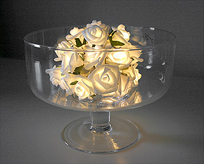Guirlande Lumineuse Led Roses Blanches Piles Blanc
